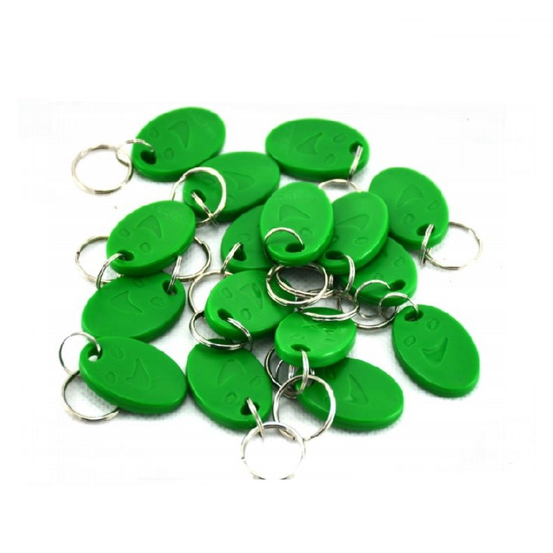 RFID 125KHz EM4100 TK4100 Smile Green Proximity ID Cards Token Tag Key Keyfobs hw v7 020 v2 23 ktag master version k tag hardware v6 070 v2 13 k tag 7 020 ecu programming tool use online no token dhl free