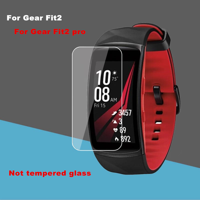 100pcs lot Soft TPU High Clear Screen protector for samsung Gear Fit 2 Fit2 pro high