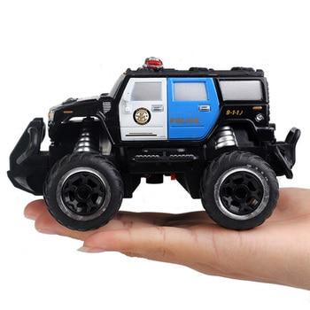 Coche de Control remoto todoterreno Hummer HX para niños, Mini coche de policía todoterreno de cuatro vías 1:43, vehículo eléctrico, regalo para el Día de los niños