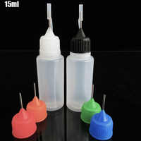 5pcs Empty squeezable Empty E-Liquid Bottle 15ml PE Needle Bottle for Vape Juice,Plastiv Dropper Bottle with Metal Needle Cover