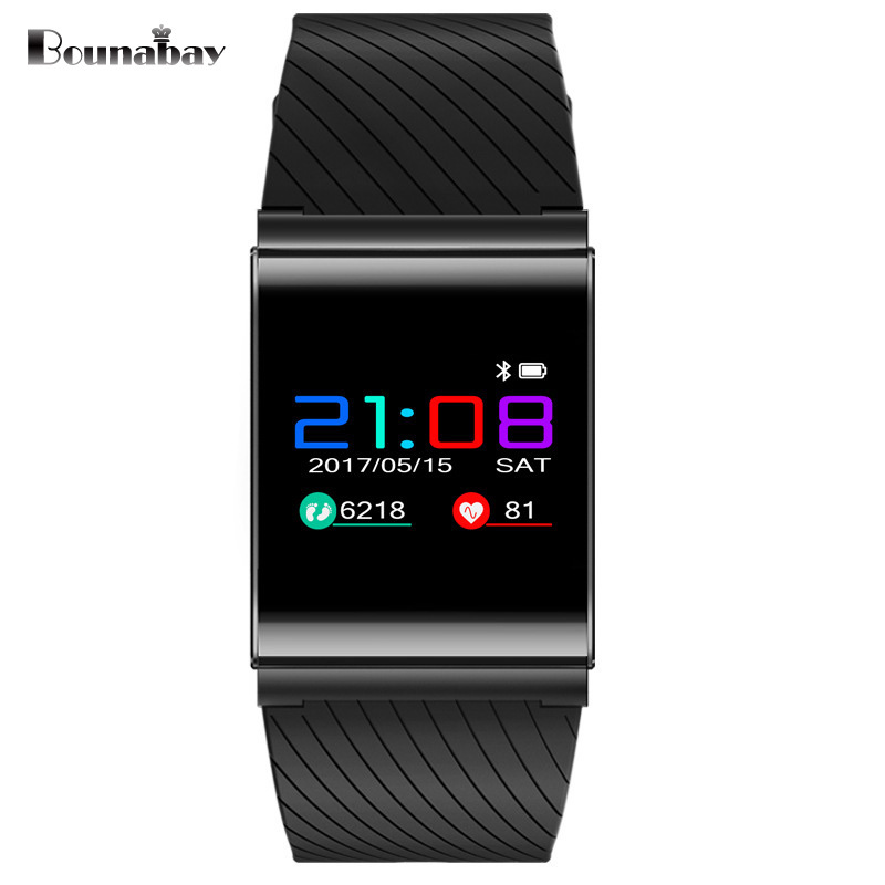 BOUNABAY Multi-lingual Bluetooth touch watch man watches for apple Android ios phone men Clocks mens Analog 3G wifi mans clock