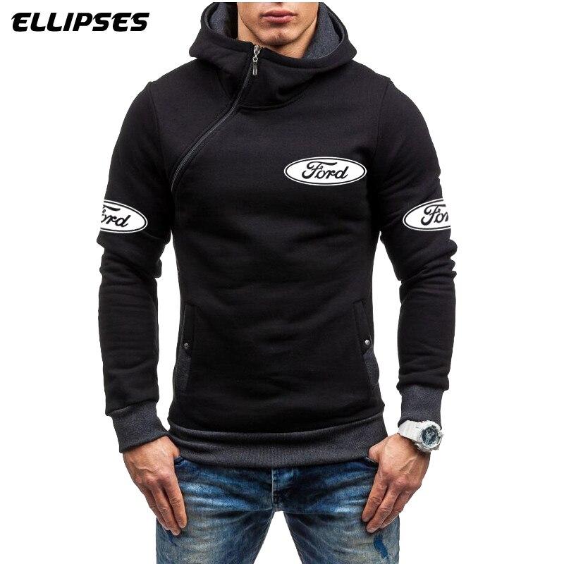 Ford Car Men Hoodie Sweatshirt Spring Brand Ford Logo Fleece Tracksuit Sudaderas Hombre Hip Hop Male Hooded Sportswear