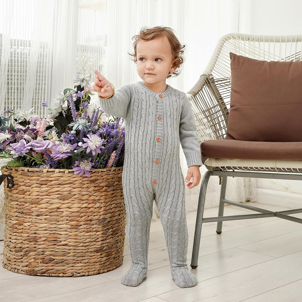 Baby   Rompers   for Newborn Boys Girls Jumpsuits Long Sleeve Toddler Kids One Piece Overalls Autumn Winter Chidlren Knitted Clothes