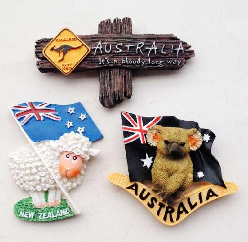 Australien Kangourou Panneau Sydney Melbourne Perth Réfrigérateur Aimants Tourisme Souvenir Réfrigérateur Magnétique Autocollants Décor À La Maison