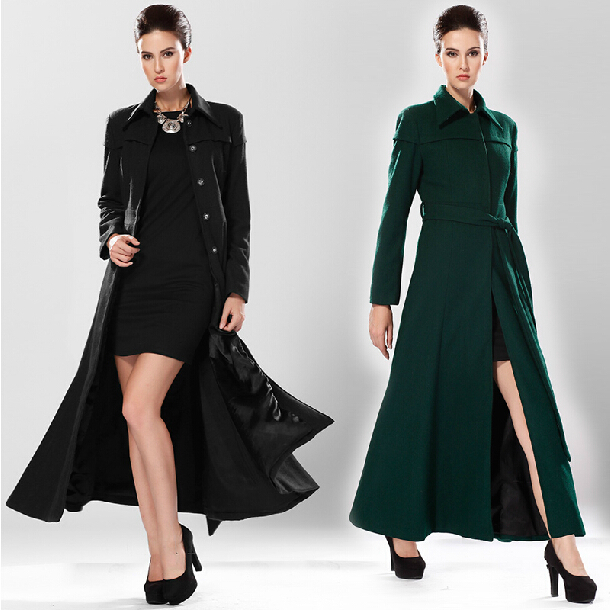 Long Black Coat Womens