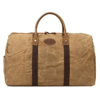 цена Waterproof Canvas Bag Vintage Military Large Capacity Travel Bag Men Hand Luggage Travel Duffle Bag Canvas HandBags For Male онлайн в 2017 году