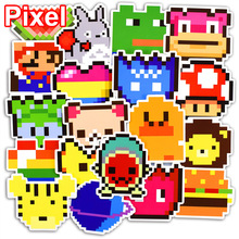 25 Pcs Pixel Style Autocollants pour Ordinateur Portable Bagages À Roulettes Skateboard Car Styling Vélo Moto Graffiti Decal PVC Drôle Autocollant