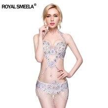 Venda quente novas mulheres traje de dança do ventre conjunto desempenho dança do ventre roupas sexy noite bellydance carnaval sutiã cinto wy8613
