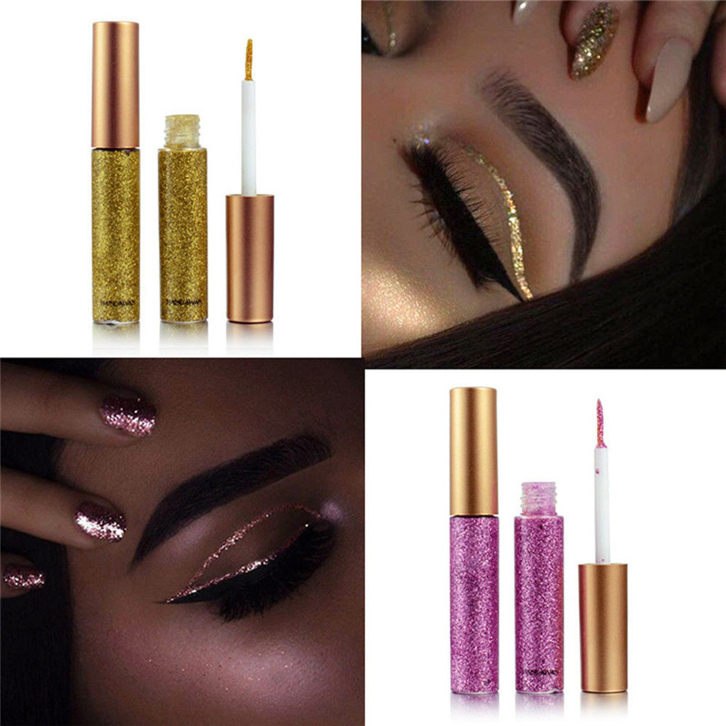 Image 4 - 2019 Hot 10 colors Eyeliner Liquid Make Up Beauty Comestics sequins Eye Liner glitter shimmer shiny High Quality Waterproof-in Eyeliner from Beauty & Health
