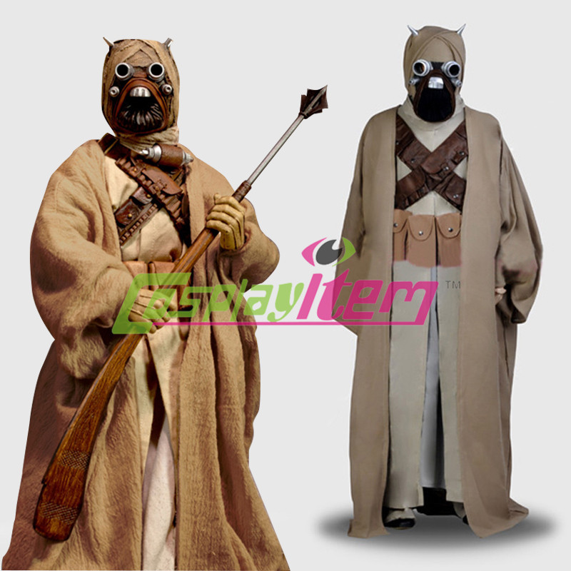 Star Wars Tusken Raider Cosplay Costume Suit Outfit Adult Halloween Costume