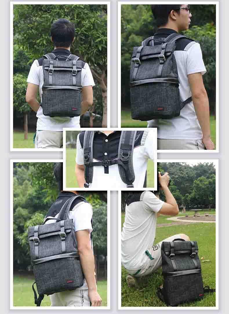 Slr Tas Kamera Profesional Ransel Digital Padded Bag Kasus Untuk Nikon Backpack Canon Dslr Tahan Air Fotografi Video Di Camera Bags Dari Elektronik