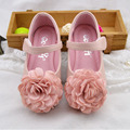 2017 Luxury Flower Baby Girls Flats Shoes Ankle Strap Flower Girls Wedding Shoes Kids Princess Shoe For Party Child Ballet Flats