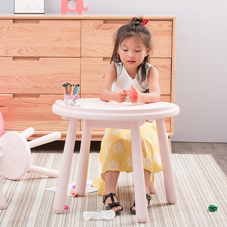 The Cheapest Price Children Tables Kids Furniture Pine Solid Wood Kids Study Table Kid Dining Desk With Storage Drawer High Quality 45*50*60cm Hot Children Furniture