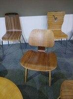 Бесплатная доставка 2 шт. высокое качество древесины стул конструктор председатель орехового дерева кофе стул