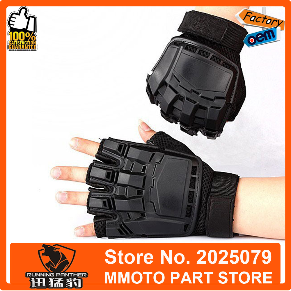 Yoko motorcycle gloves - Hot Sale Brand Hare Classical Fire Genuine Leather Nylon Motorcycle Gloves Off Road Half Finger