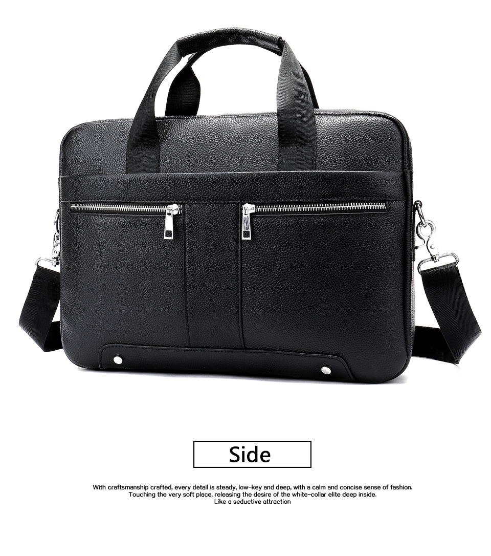 Business Men Briefcase Bag Luxury Leather Laptop Bag Man Shoulder Bag