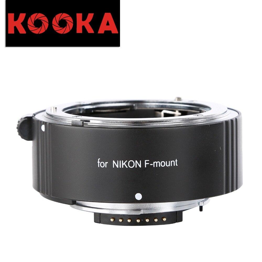 Tube d'extension AF en alliage d'aluminium KOOKA KK-N25A avec Image de gros plan d'exposition TTL pour appareils photo reflex Nikon (25mm)