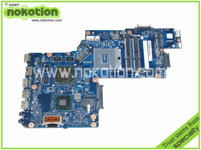 NOKOTION new H000051770 Laptop motherboard for toshiba satellite L850 C850 mother boards ATI HD 7670M Graphics nokotion for toshiba satellite c850d c855d laptop motherboard hd 7520g ddr3 mainboard 1310a2492002 sps v000275280