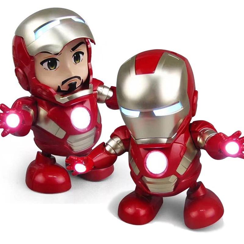 Dance Hero Man Cool Toy Figure Dancing Robot w//LED Flashlight /& Music Sound Gift