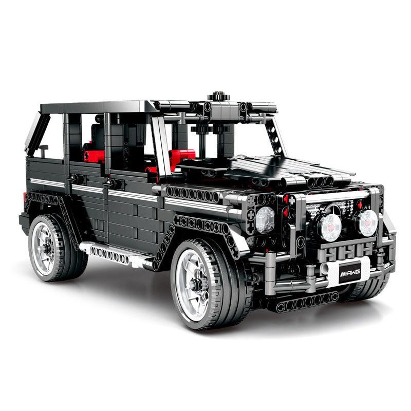DIY Technic Series Building Blocks Banz G500 Car Bricks Model Educational Birthday Toys for Kids Gifts