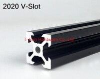 V Slot Black Aluminum Profile Aluminum Extrusion Profile 2020 20 20
