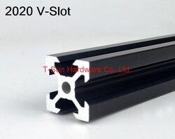 V слот черный алюминиевый профиль алюминиевый экструзионный профиль 2020 20*20