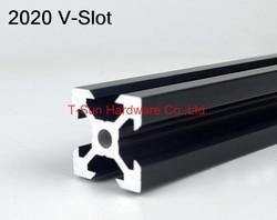 V слот черный алюминиевый профиль 2020 20*20