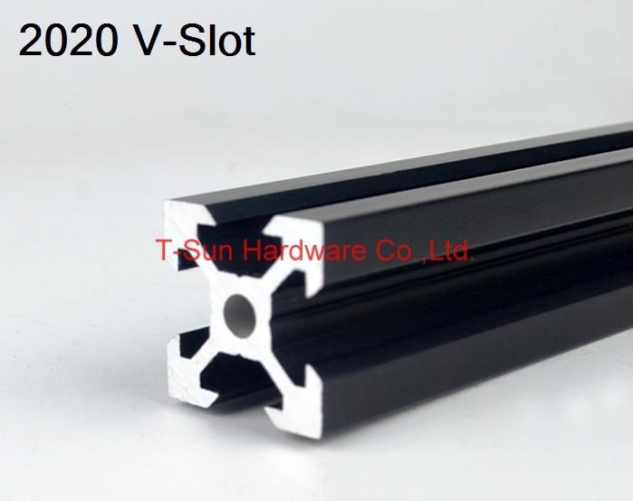 V Slot Black Aluminum Profile Aluminum Extrusion Profile 2020 20*20