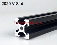 V Slot Black Aluminum Profile Aluminum Extrusion Profile 2020 20 20
