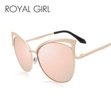35578cabea Real de GRIL de alta calidad Angular de las mujeres de ojo de gato gafas de  sol de marco metálico Vintage gafas de sol mujer mar.