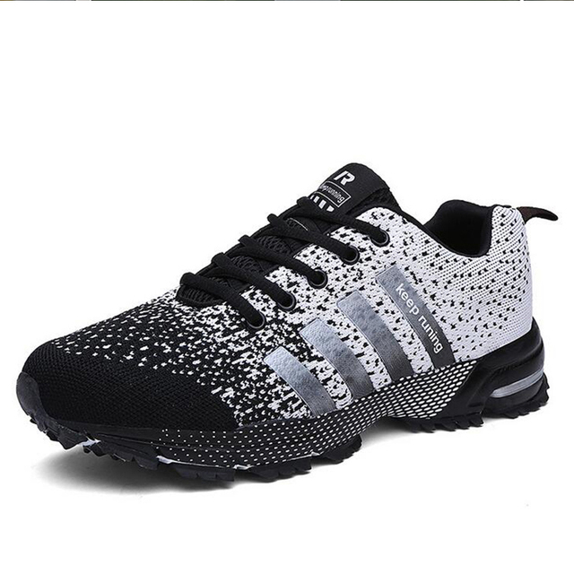 MLANXEUE 2018 Breathable Lovers Unisex Casual Shoes Race an Male Shoe Size 35-4 Fashion Lace-up Human Comfortable Men Shoes 1