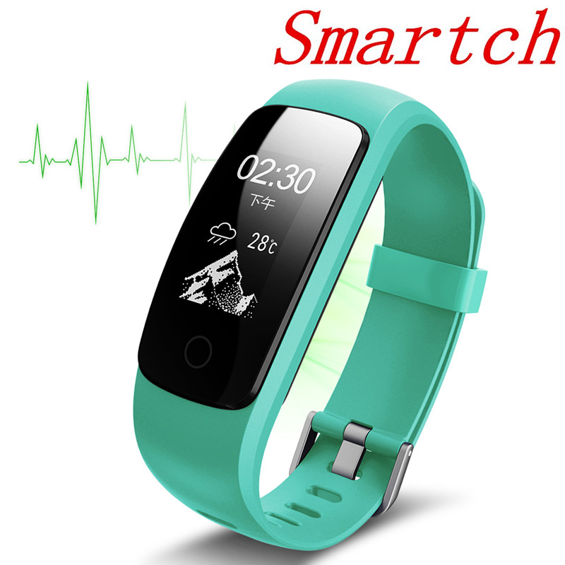 Smartch Bluetooth 4,0 ID107 Plus HR Herz Rate Armband 3D Sensor Monitor Fitness Tracking Für iOS Android pk id115 id107 s2