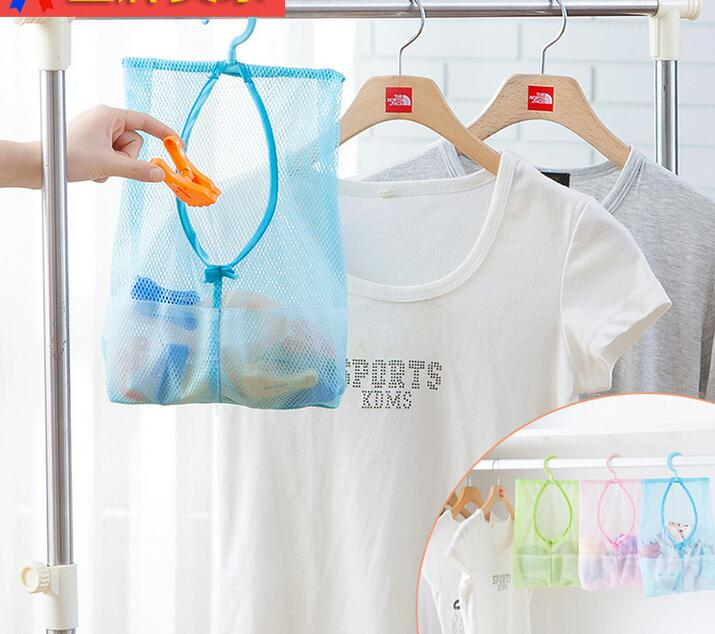6pcs/set Clothes Organizer Underwear Socks Storage Bag Drying With Hook Bathroom Mesh Laundry Basket Hanging Washing Mesh