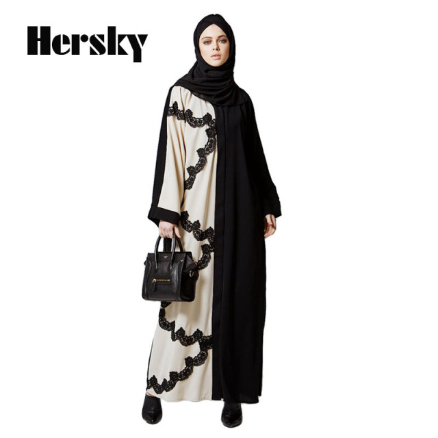 Dubai Abaya Moroccan kaftan Women Loose Lace Muslim Dress Islamic Abayas Dresses Clothing Turkish Robe
