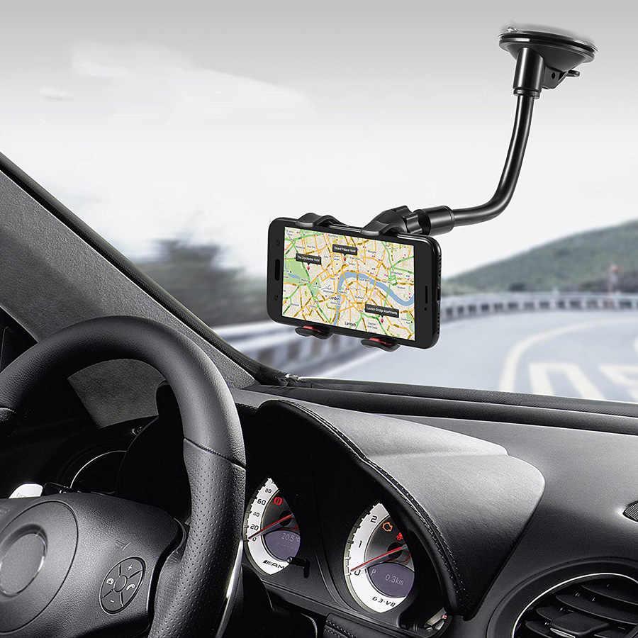 حامل هاتف السيارة مرنة 360 درجة قابل للتعديل سنادات بالسيارة الهاتف المحمول حامل للهاتف الذكي 3.5-6 بوصة دعم نظام تحديد المواقع