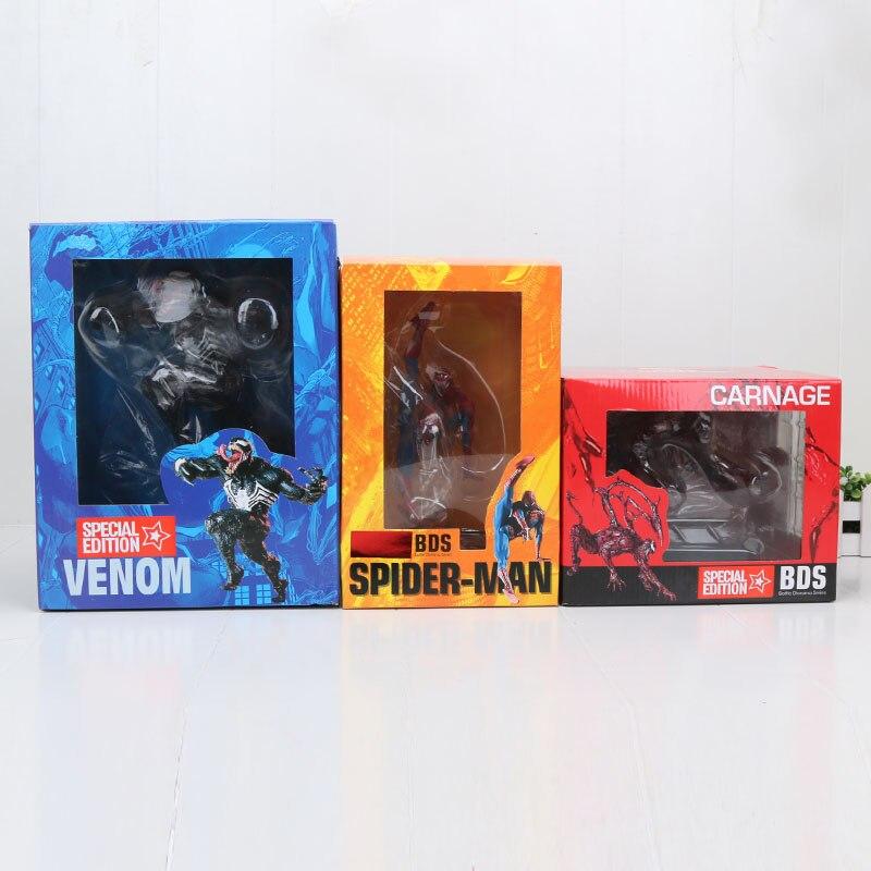 Hasbro Marvel 20cm Super Hero The Avengers action figure Spiderman Spider man Venom Carnage BDS PVC action figure Toys  5