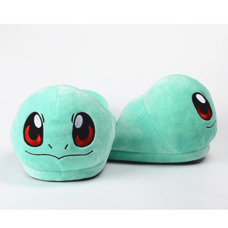 Monster Go Slippers Pikachu Eevee Snorlax Squirtle Charmander Soft Stuffed Plush Toy House Winter Shoes Slippers for Men Women anime cartoon monster mudkip flareon snorlax adult plush slippers home winter slippers plush toys