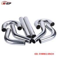 Tubo de alumínio universal 2 polegadas  tubo de admissão de ar frio para corrida e automóveis tipo s 45/90/180 graus