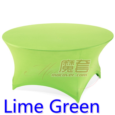 Spandex Table Cover Lime Green Round Lycra Stretch Table Cloth Fit