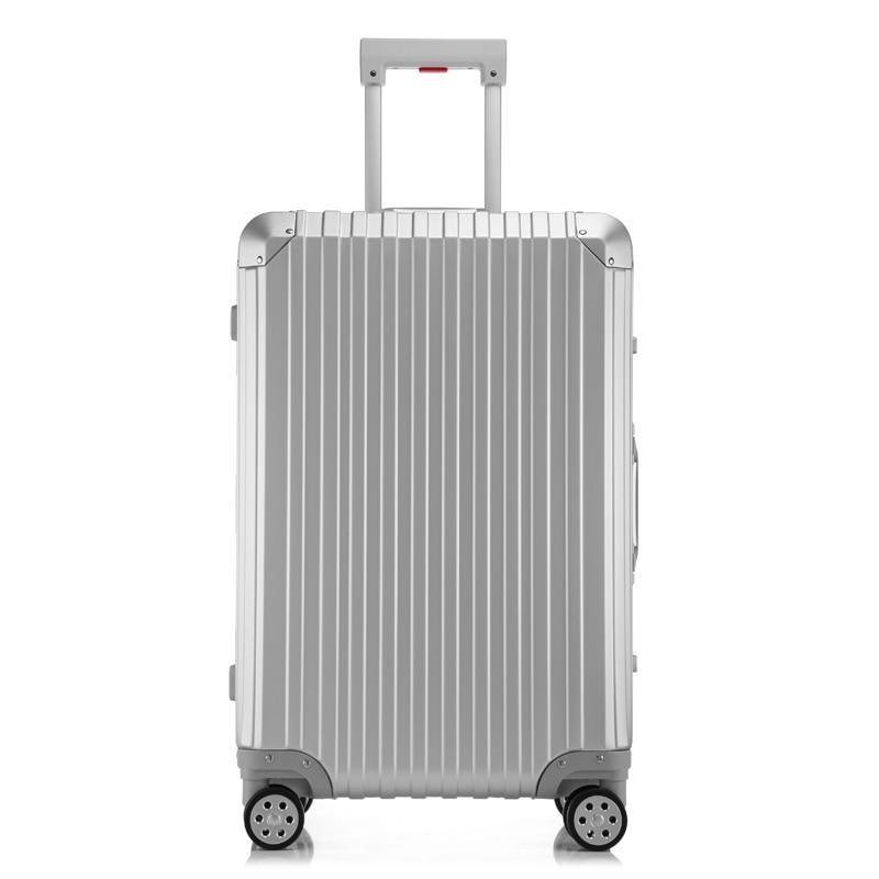 Newlylai aluminium magnesium alloy rod box luggage suitcase universal wheel suitcases full aluminium magnesium 2221