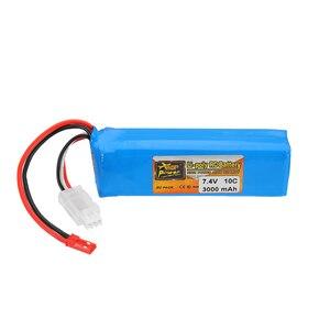Image 2 - ZOP Power 7,4 V 3000mah 10C Lipo batería recargable para Frsky Taranis X9D Plus transmisor control remoto piezas de repuesto