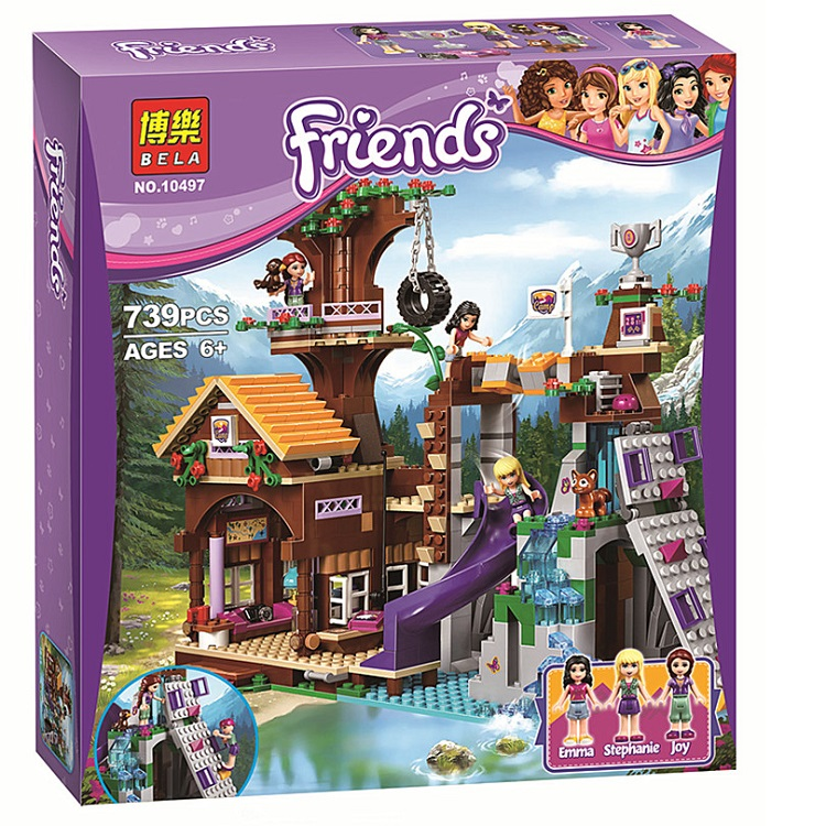 BELA <font><b>10497</b></font> Building Bricks Compatible with Friends Blocks Adventure Camp Tree House 41122 Emma Mia Figure image