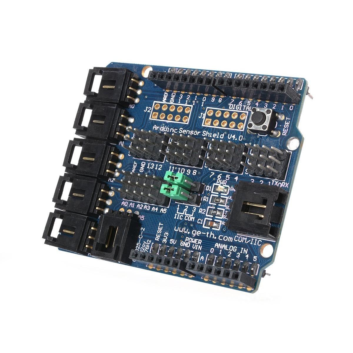 Arduino UNO MEGA Duemilanove Sensor Shield V4 Digital Analog Module Servo Moteur