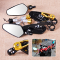 "1 Pair 7/8"" 22mm Motorcycle Motorbike Bar End Side Rearview Mirrors fit for Harley Yamaha Honda Kawasaki Suzuki Buell Agusta ATV"