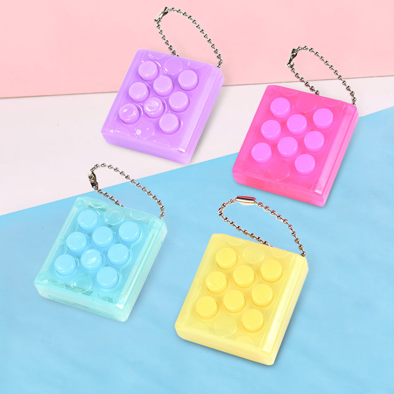 Infinite Pinching Balloon Novelty Toy 4 Colors Stress Reliever Squeeze Toys Key Chain Key Ring Can Sounding Novelty Toys