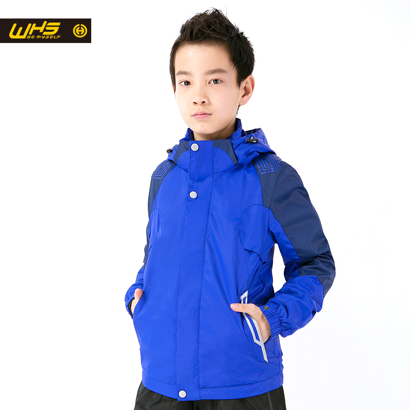 ФОТО WHS Boys jacket Hiking windbreaker outdoor sport coat kids jackets waterproof windproof clothes teenager clothing