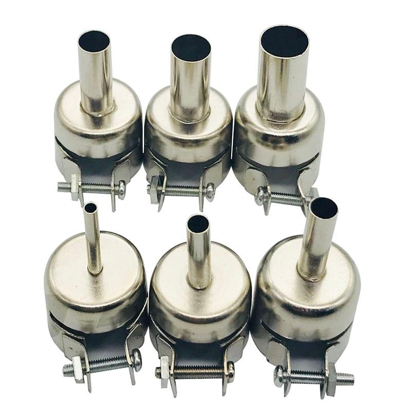 6Pcs 3-12mm Circular Nozzles For Hot Air Soldering Station 858A 858DAluminum Alloy Universal Meatal Heat Gun Resisting Nozzles