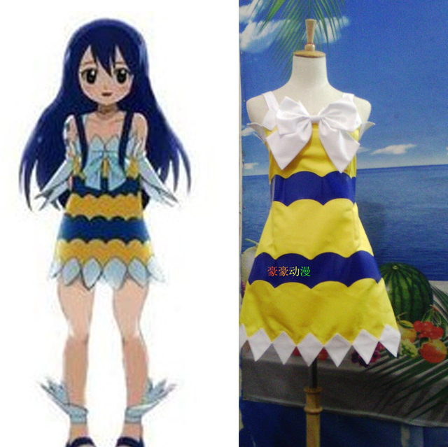 Fairy Tail Wendy Marvell Cosplay Japanese Anime Costume Lolita Cos
