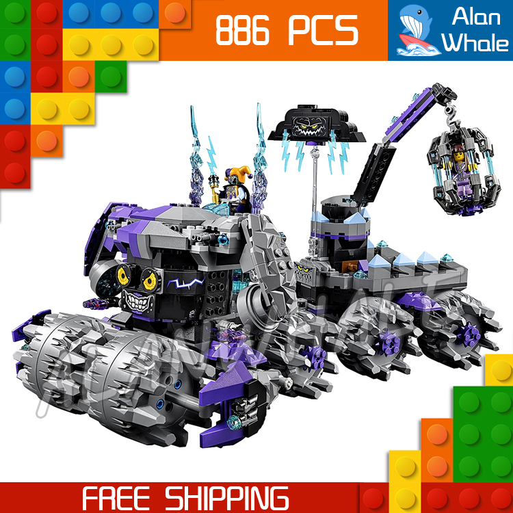 886pcs New Knights 10597 Jestro's Headquarter 3D DIY Model Building Blocks Boys Toys Nexus Compatible with Lego high tech and fashion electric product shell plastic mold