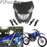 Motorbike Black High Low Beam Motocross Headlight Supermoto Dirt Bikes Headlamp Off Road for Yamaha WRF WR YZ TTR XT MX Enduro| |   -